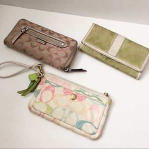 Coach wallet bundle three. as is
